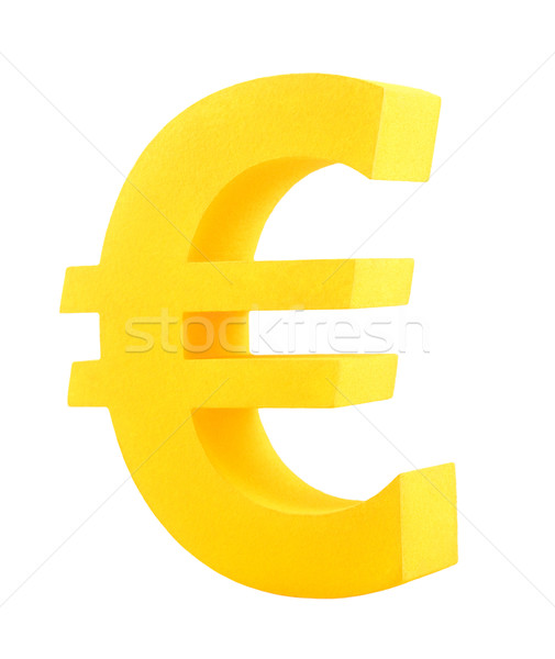 Golden euro symbol isolated on white Stock photo © sqback