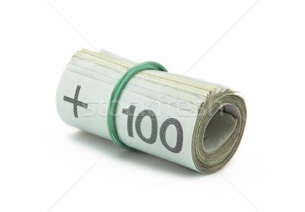 Para yalıtılmış beyaz yeşil finanse banka Stok fotoğraf © sqback