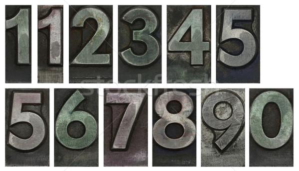 金属 タイプ 番号 孤立した 白 デザイン ストックフォト © sqback