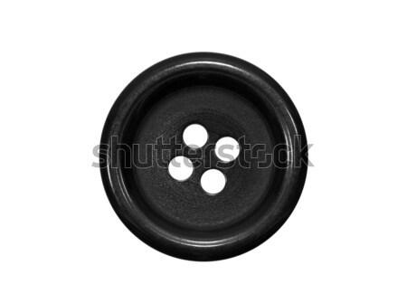 Black button isolated on white Stock photo © sqback