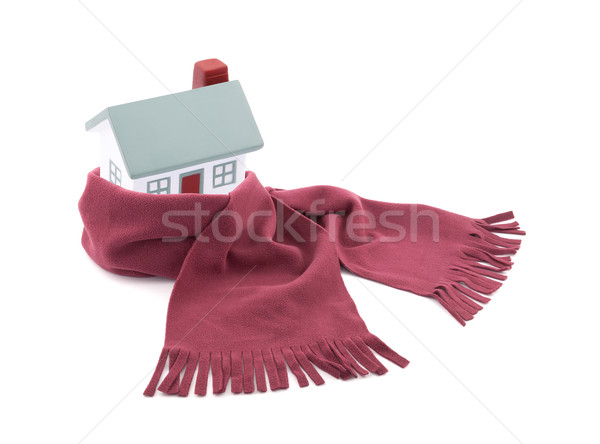 House wrapped in a scarf isolated on white Stock photo © sqback