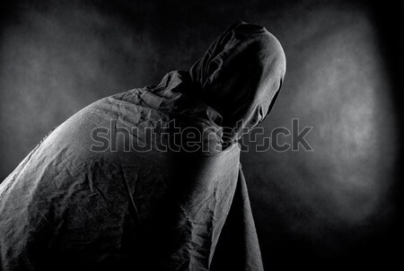 Stock photo: Ghost in the dark