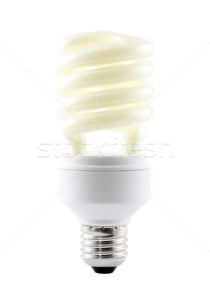 Energy saving bulb with clipping path Stock photo © sqback