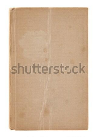 öreg koszos könyvborító izolált fehér nyomtatott Stock fotó © sqback
