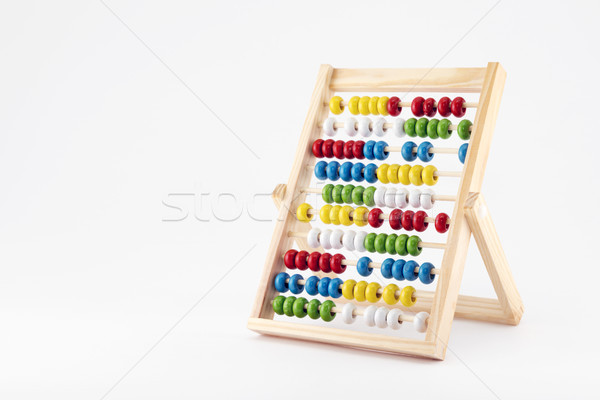Traditional abacus with colorful wooden beads  Stock photo © sqback