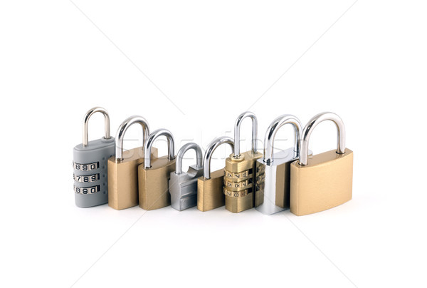 Security concept with set of different size metal padlocks  Stock photo © sqback