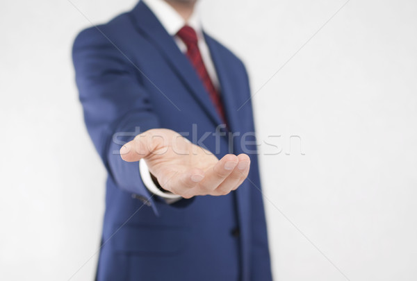 бизнесмен открытых стороны мужчин Сток-фото © sqback