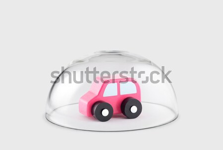 Transport white van car protected under a glass dome  Stock photo © sqback