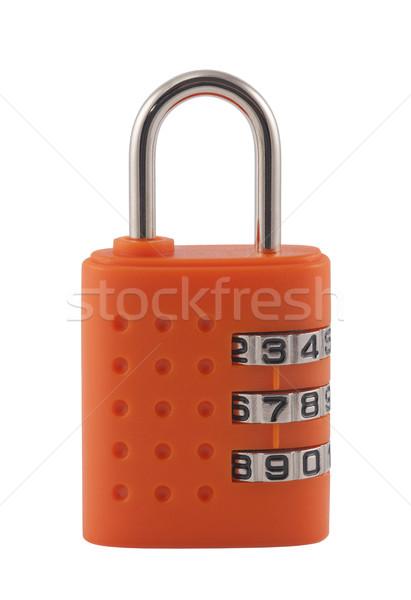 Combinação cadeado trancar seguro moderno Foto stock © sqback