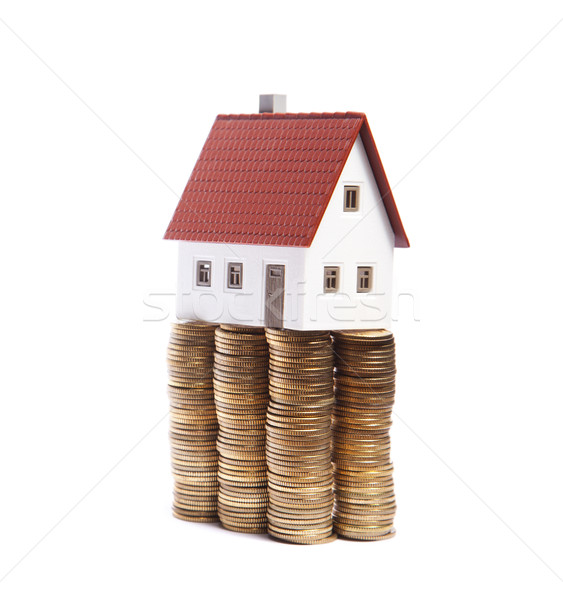 House on stacks of coins  Stock photo © sqback