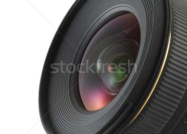 Kameralencse közelkép vágási körvonal fény üveg digitális Stock fotó © sqback