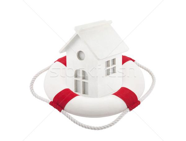 Faible blanche jouet maison maison rouge Photo stock © sqback