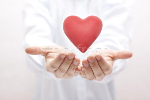 Egészségbiztosítás szeretet férfi egészség gyógyszer segítség Stock fotó © sqback