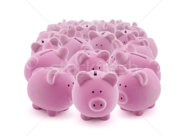 Roze banken bank speelgoed Stockfoto © sqback