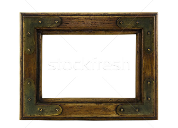Old wooden picture frame with clipping path. Stock photo © sqback