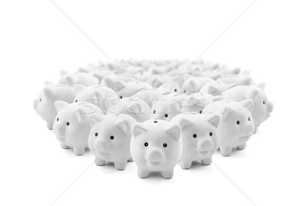 Large group of white piggy banks Stock photo © sqback
