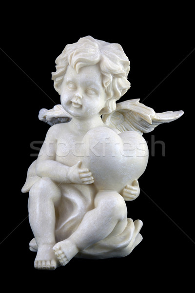 Cupid isolated on black Stock photo © sqback