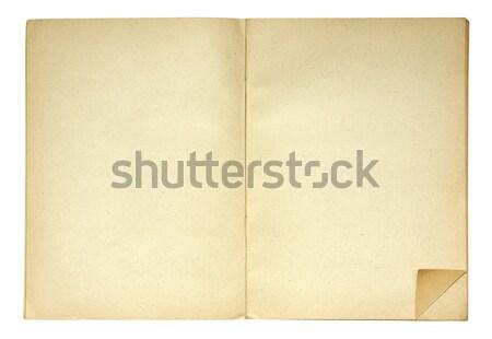 Otwarta księga fałdowy strona rogu dodaj do ulubionych tle Zdjęcia stock © sqback