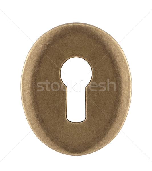 Keyhole isolated on white with clipping path Stock photo © sqback