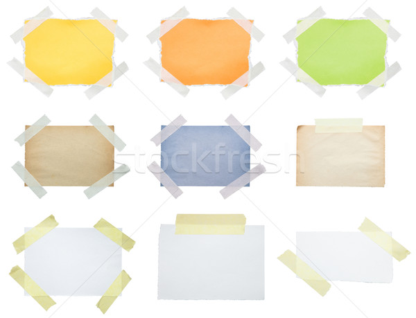 Collection of papers taped to white Stock photo © sqback