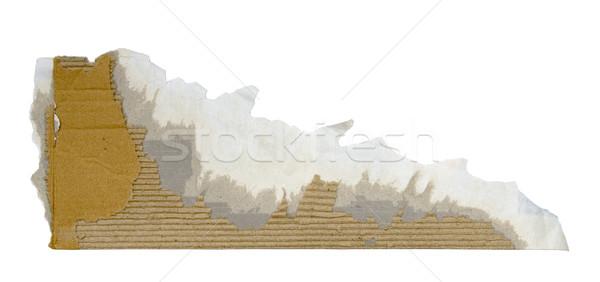 Desgarrado pieza cartón papel bordo Foto stock © sqback