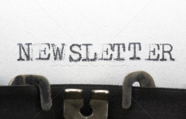 Boletim informativo papel internet escrita carta informação Foto stock © sqback