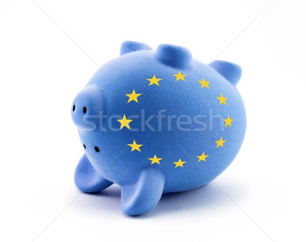 Europese economisch crisis geld sterren bank Stockfoto © sqback