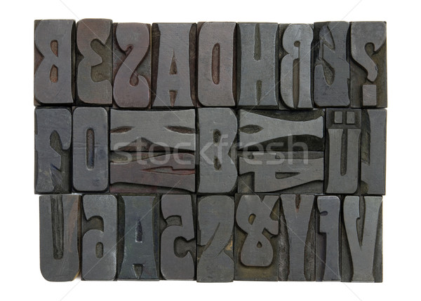 Block letters with clipping path Stock photo © sqback