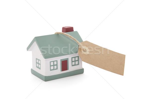 мало дома тег строку белый бумаги Сток-фото © sqback