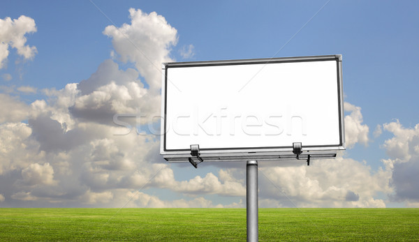 Empty billboard in a field with a blue sky  Stock photo © sqback