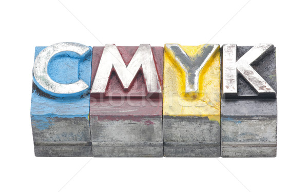Cmyk made from metal letters Stock photo © sqback