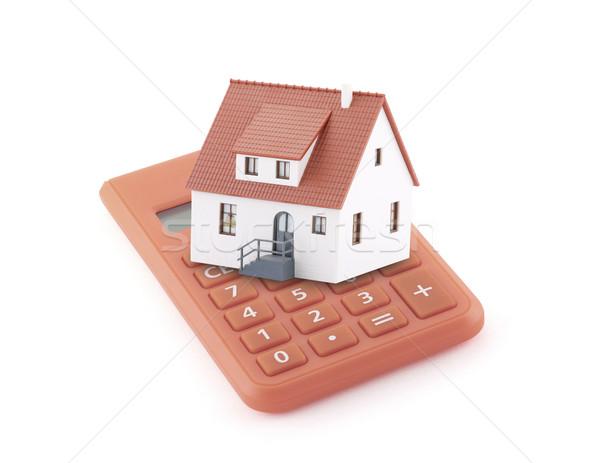 Hypothèque simulateur bâtiment maison Finance banque Photo stock © sqback