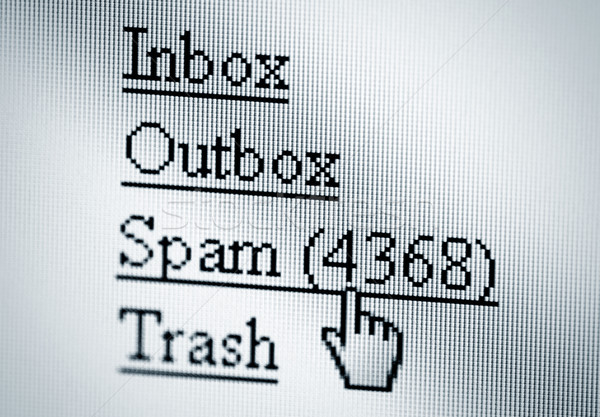 Spam, computer screen Stock photo © sqback