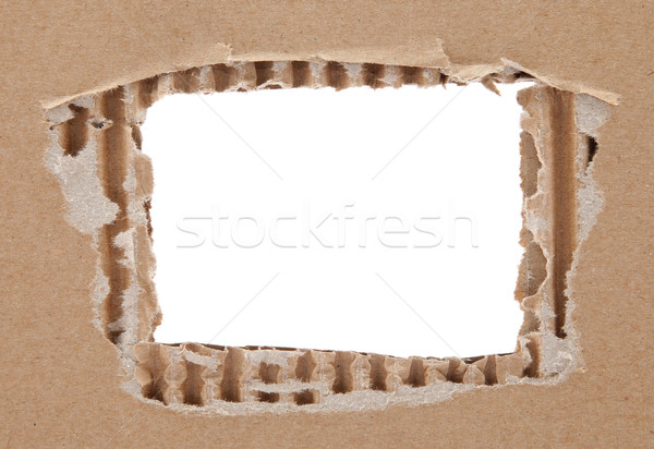 Cardboard frame with rough edges Stock photo © sqback
