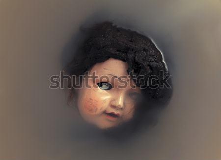 Arrepiante boneca cara água retro escuro Foto stock © sqback