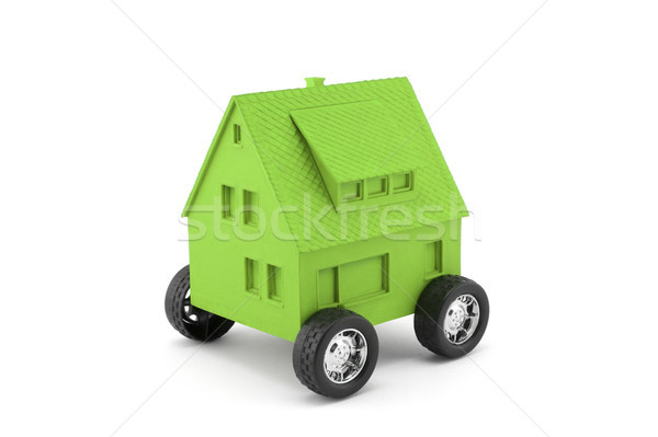 Green house on wheels isolated on white with clipping path  Stock photo © sqback