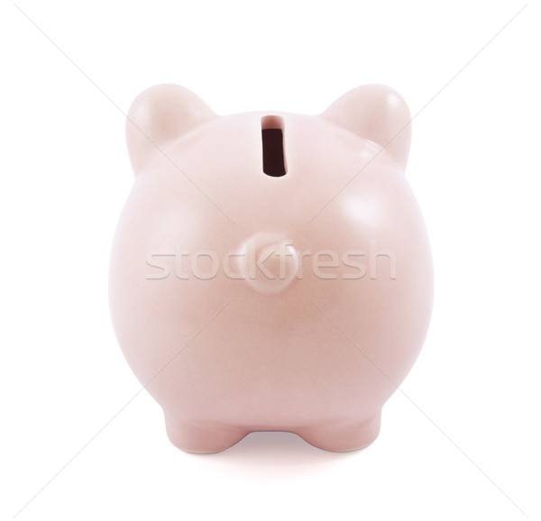 Back view of pink piggy bank Stock photo © sqback