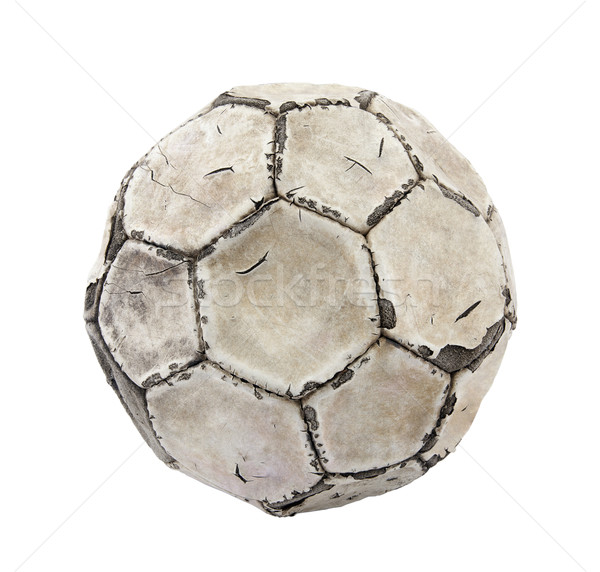Old soccer ball with clipping path Stock photo © sqback