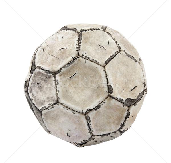 öreg futballabda vágási körvonal futball labda retro Stock fotó © sqback