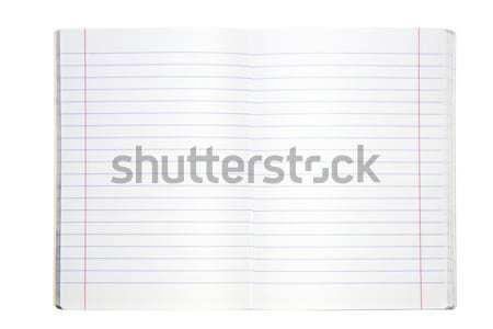 練習帳 白 図書 背景 ノートブック ノート ストックフォト © sqback