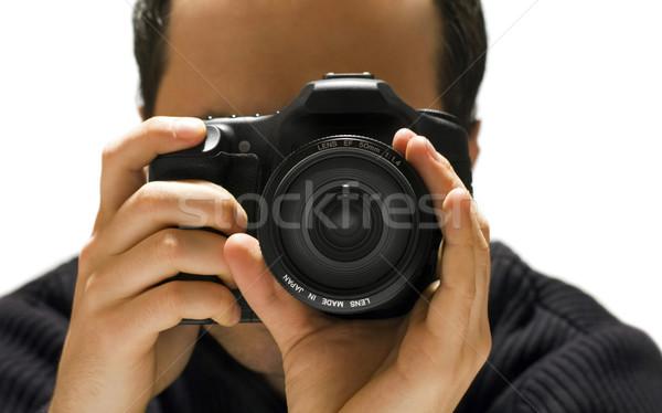 фотограф человека работу портрет цифровой профессиональных Сток-фото © sqback