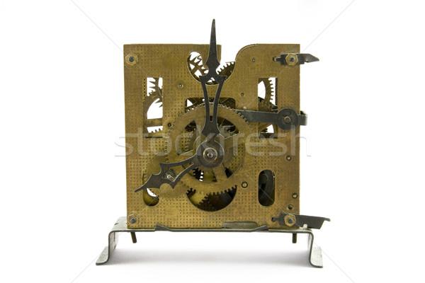 Velho relógio branco tempo máquina Foto stock © sqback