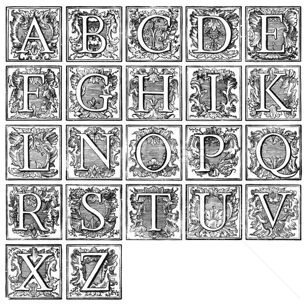 Old decorative alphabet from 16th century  Stock photo © sqback