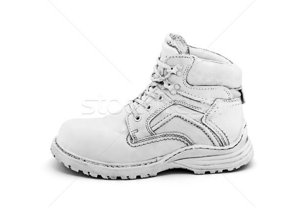 Alten weiß Schuh malen Leder Stock foto © sqback