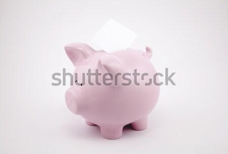 Pembe kumbara levha kâğıt bo Stok fotoğraf © sqback
