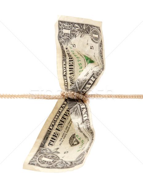 Amerikai dollár zsinór vágási körvonal pénz pénzügyi Stock fotó © sqback
