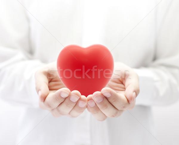Egészségbiztosítás szeretet egészség gyógyszer piros élet Stock fotó © sqback