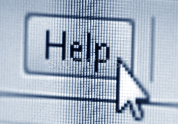 Help button and cursor Stock photo © sqback
