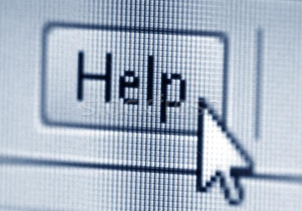 Helpen knop cursor laptop muis venster Stockfoto © sqback