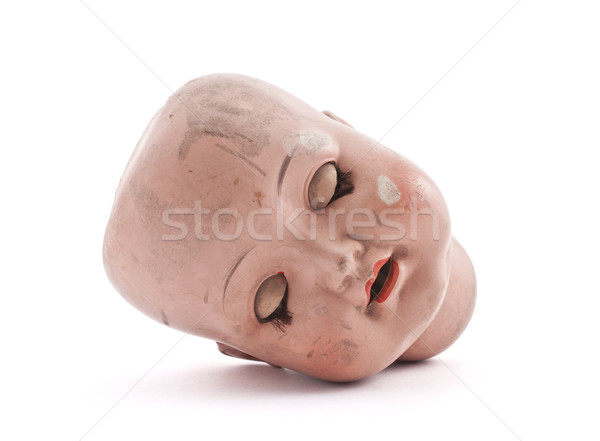 Sleeping doll head with clipping path  Stock photo © sqback